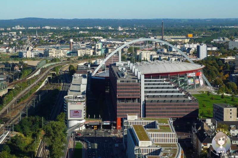 Aussichtsplattform Koeln Arena Deutz