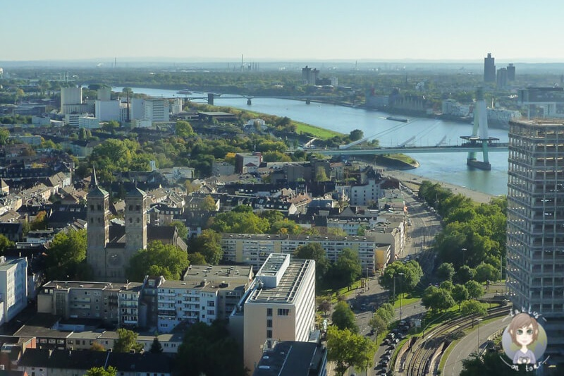 Aussichtsplattform Koeln Deutz Rhein