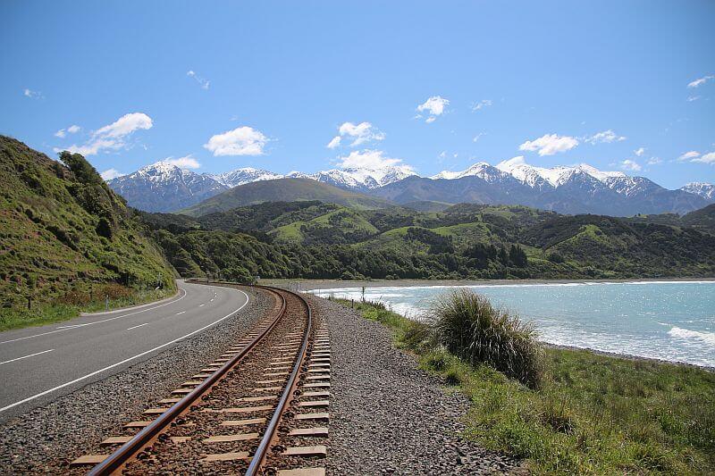 Eine traumhafte Kulisse auf der Suedinsel Neuseelands haben wir waehrend unserer Fahrt mit dem Camper in Neuseeland erlebt