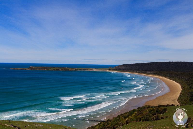 traumhafter Blick auf die Tautuku Bay in Otago, Neuseeland