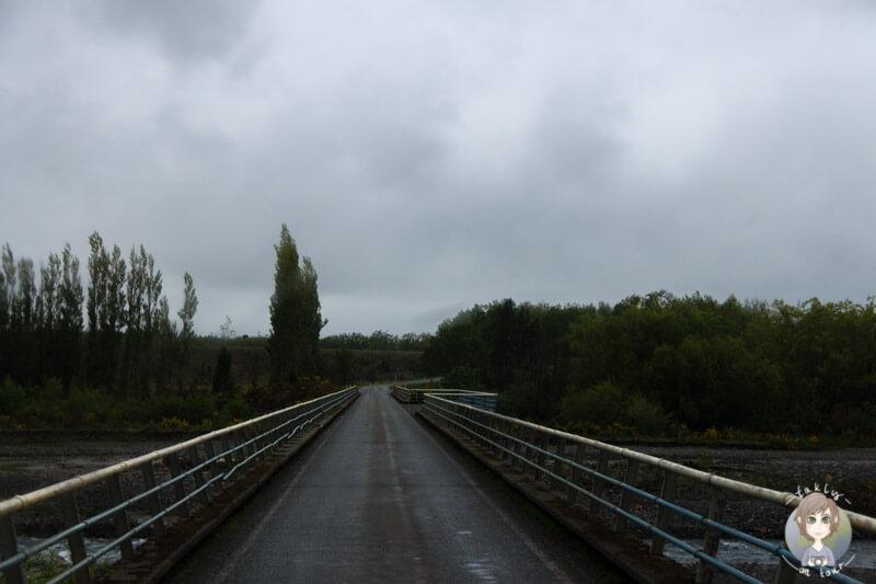 Eine Brücke über den Rakaia Gorge