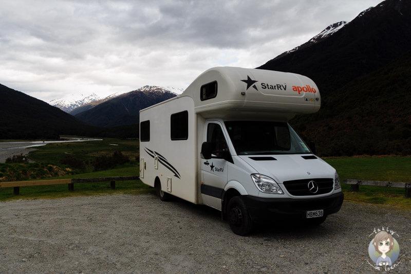 Campingplatz am Haast Pass, Neuseeland