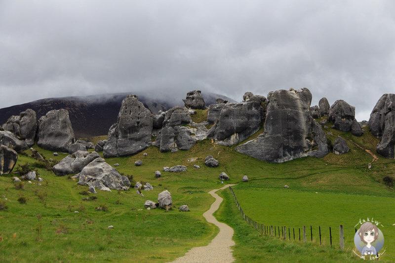 Die Felsformationen in Castle Hill