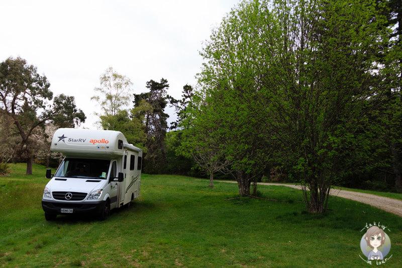Camping im Clark Valley, Neuseeland