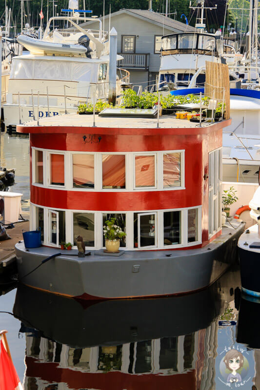 Hausboot in Vancouver am Coal Harbour