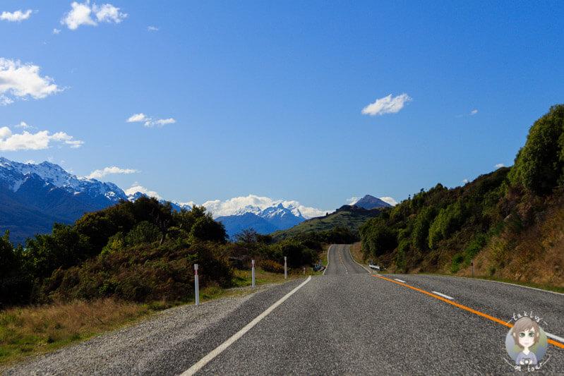 Unsere Fahrt Richtung Glenorchy mit toller Bergwelt