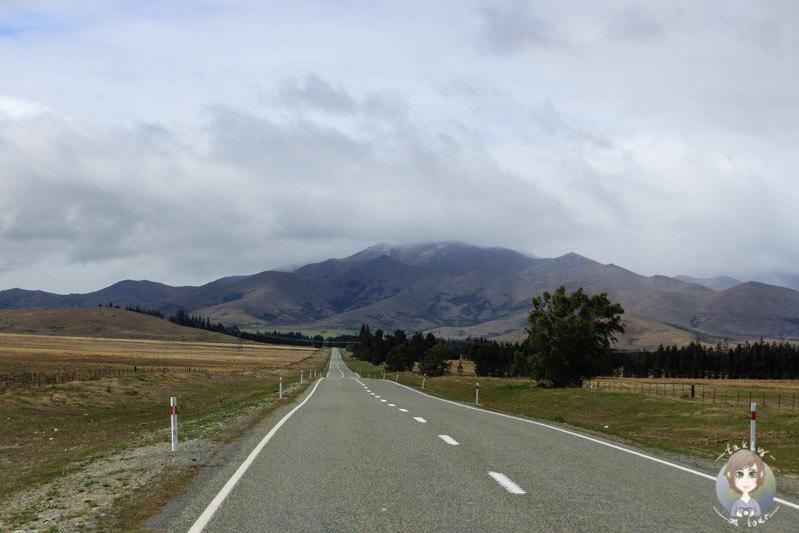 Fahrt von Tekapo Richtung Fairlie