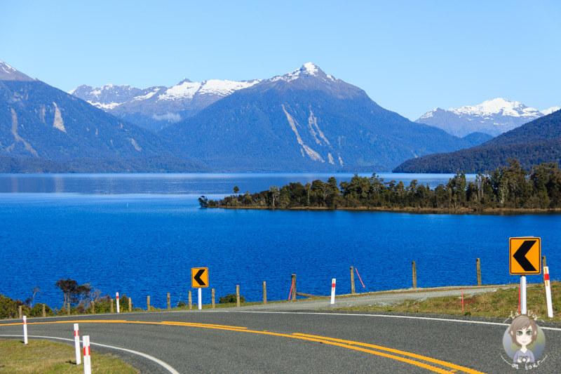 der Lake Te Anau in Neuseeland