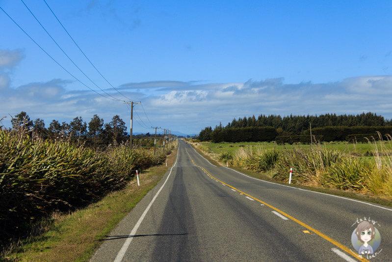 Fahrt Richtung Fortrose, Neuseeland
