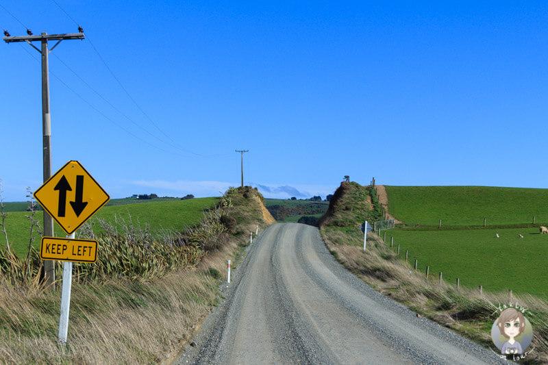 Fahrt zum Slope Point, Neuseeland