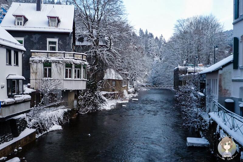 Fluss Rur Monschau Eifel
