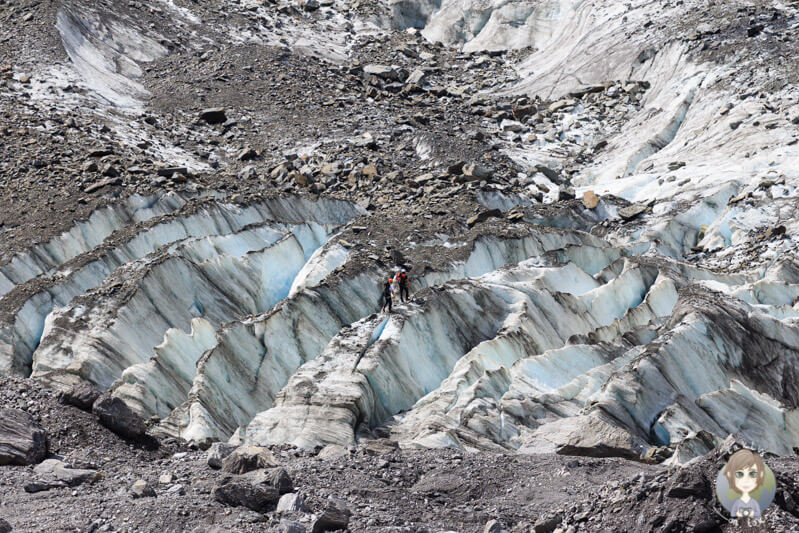 Eiswanderer auf dem Fox Gletschers in Neuseeland
