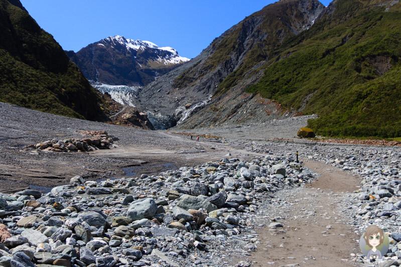 Weg zum Fox Gletscher