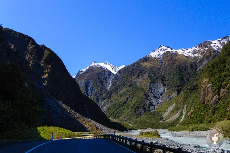 Fox Gletscher in Neuseeland (2)