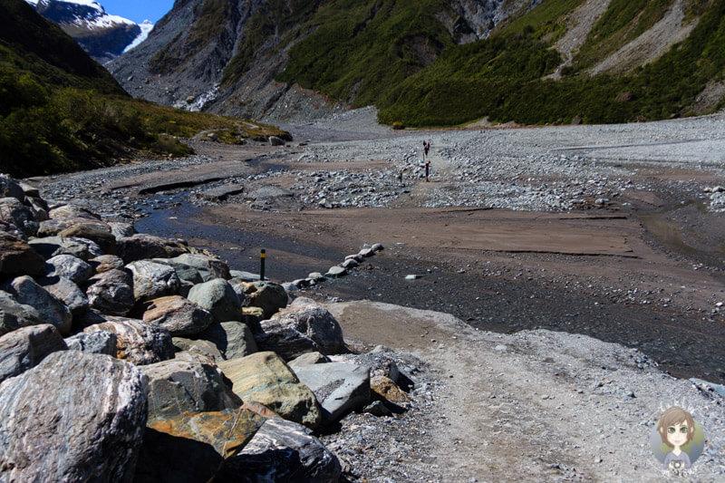 Wanderung am Fox Glacier, Neuseeland