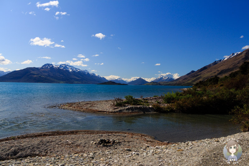 Freedom Camping am Lake Wakatipu, rechte Seite des 25 Mile Creek