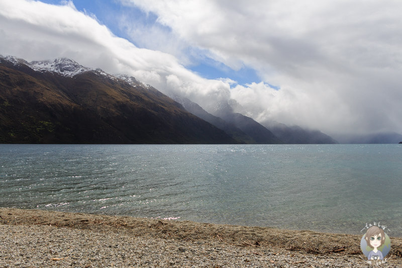 Blick über den Lake Wakatipu, Kingston