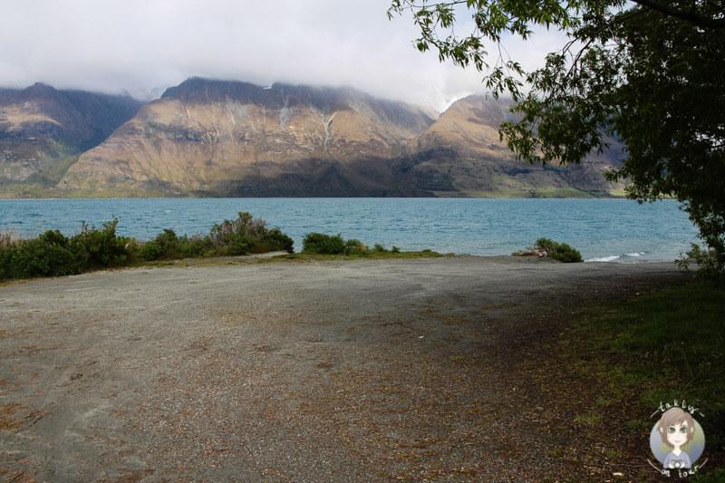 Freedom Camping am Lake Wakatipu, Neuseeland (4)