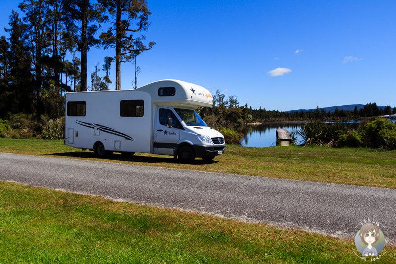 kostenlose Übernachtung an der West Coast von Neuseeland in Te Kinga
