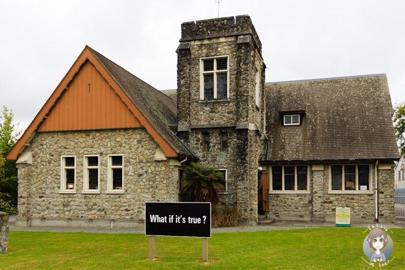 Eine Kirche in Geraldine, Neuseeland