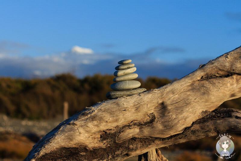 Steine am Gillespies beach