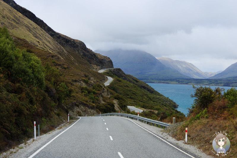 Fahrt entlang des Lake Wakatipu, Otago