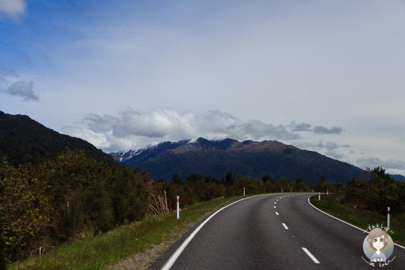 Fahrt über den Haast Highway