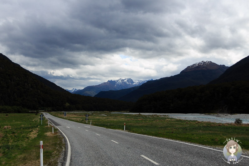 Fahrt über den Haast Pass