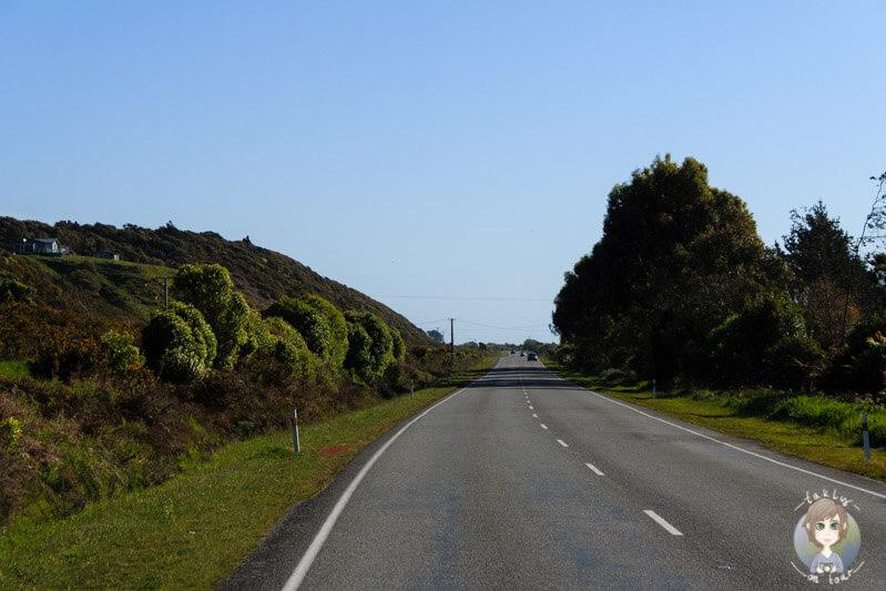 Fahrt nach Hokitika, West Coast, Neuseeland