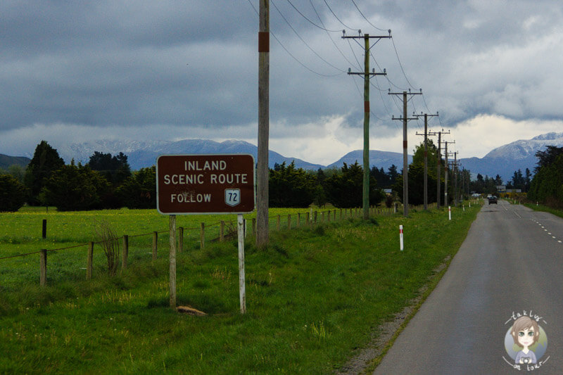 Die Inland Scenic Route führt entlang des Highway 72