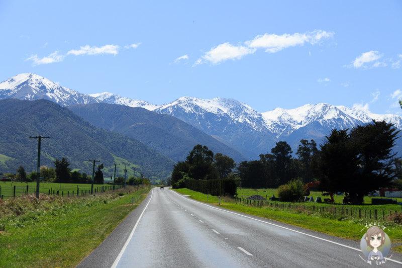 Fahrt durch Kaikoura in Neuseeland