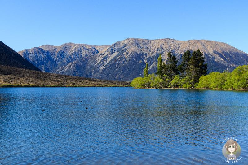 wunderschöne Bergwelt am Lake Pearson