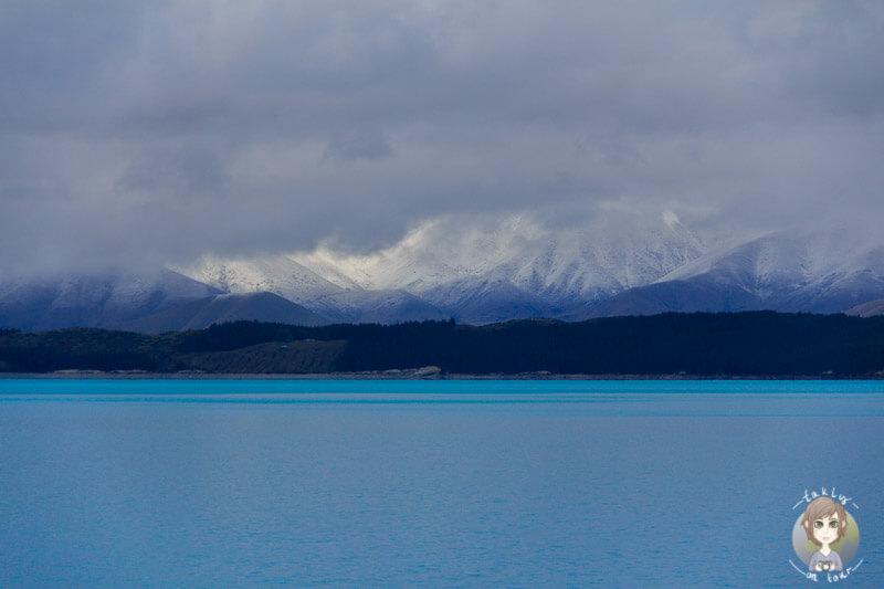 Der Lake Pukaki mit dem Mount Cook im Hintergrund