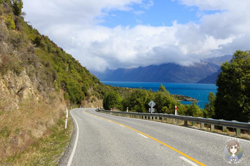 Fahrt Richtung Kingston am Lake Wakatipu entlang