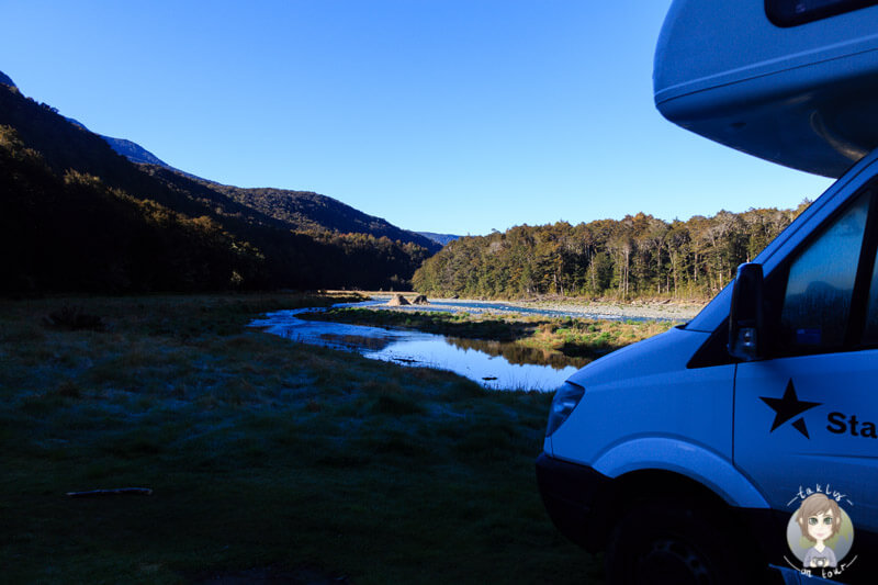 Camping an der Milford Road
