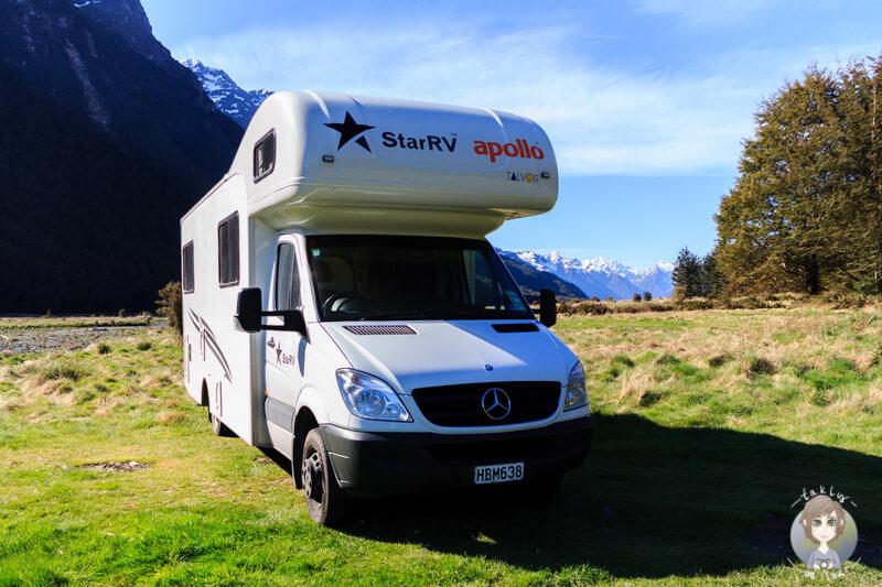 Camping auf dem Mackay Creek DOC