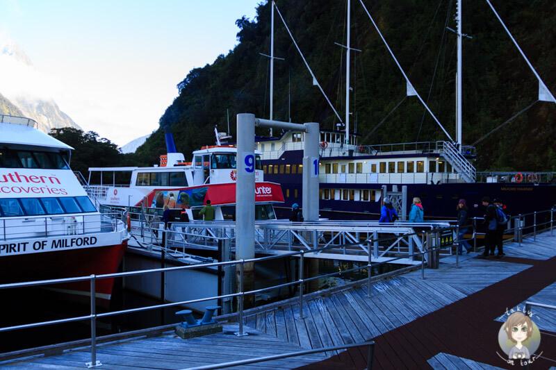 Ausflugsterminal am Milford Sound