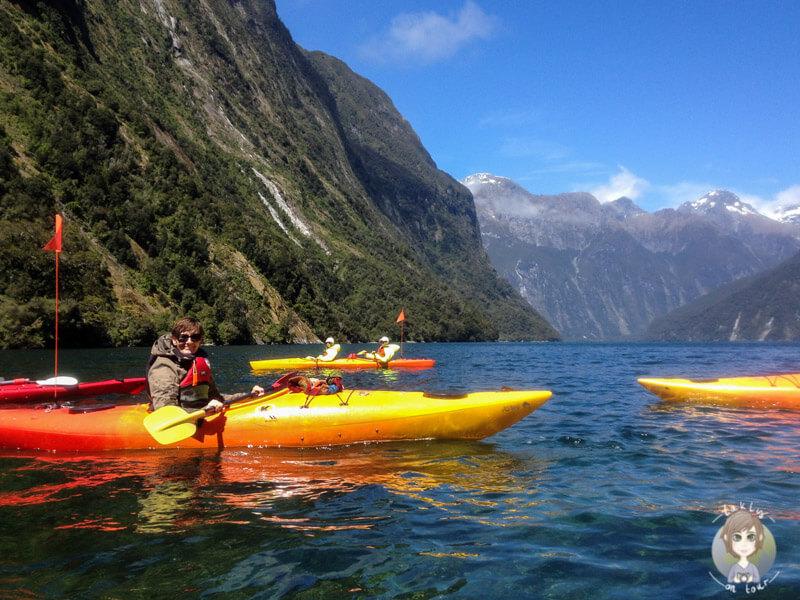 Ein Abenteuer in Neuseeland: Mit dem Kayak auf dem Milford Sound