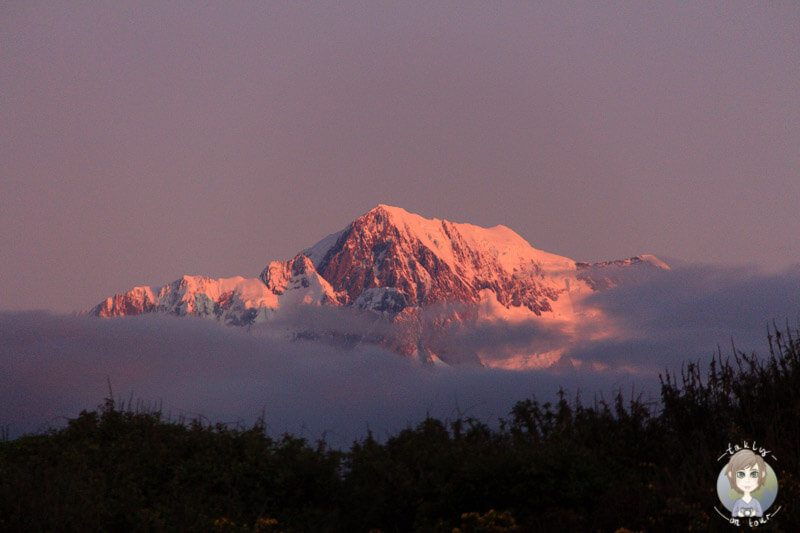 Mount Cook bei Sonnenuntergang