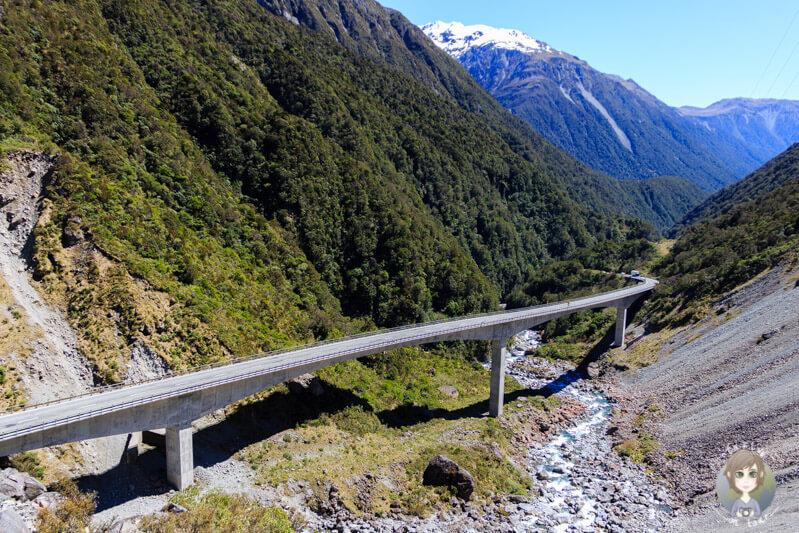 Das Otira Viaduct auf dem Arthur's Pass