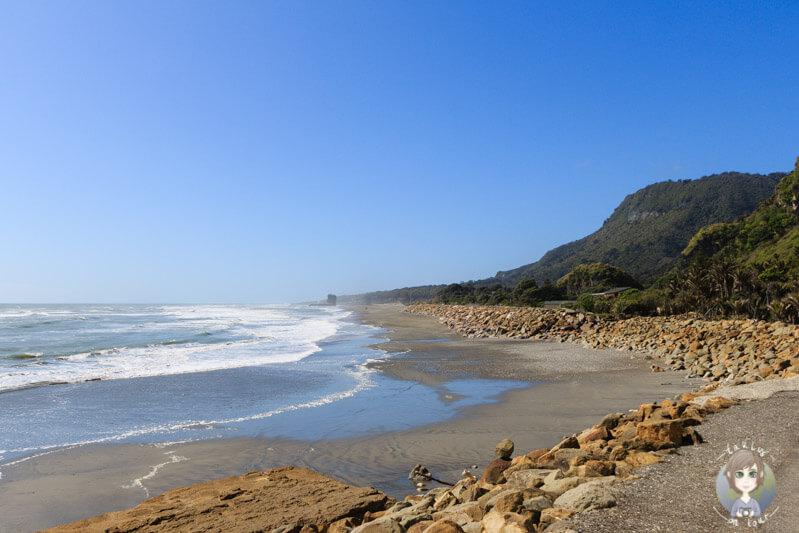 Bucht nahe der Pancake Rocks
