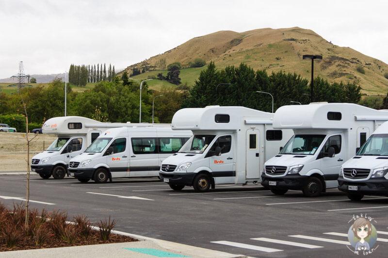 Campervan Parkplätze in Queenstown bei Countdown