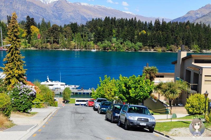 Queenstown mit dem Lake Wakatipu