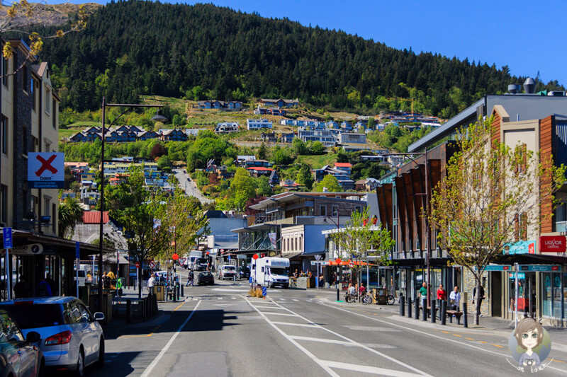 Fahrt durch Queenstown, Otago