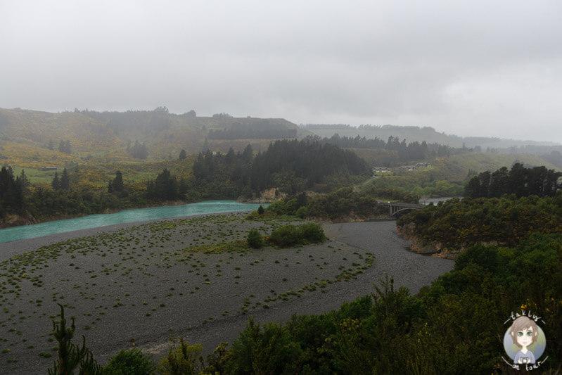 Der Rakaia Gorge an der Inland Scenic Route in Neuseeland