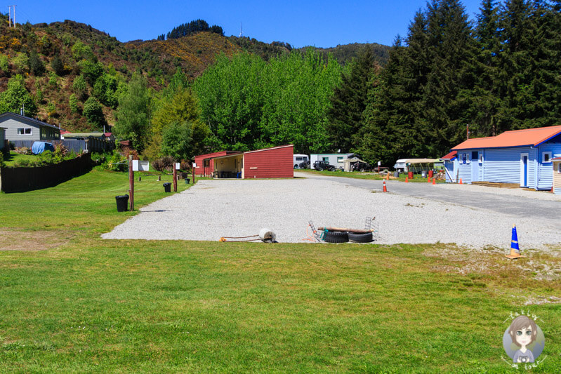 Das Reefton Motorcamp Westcost Neuseeland