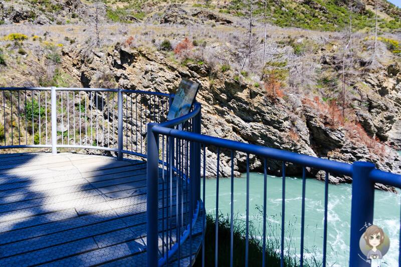 Roaring Meg Lookout im Kawarau Gorge, Neuseeland (1)