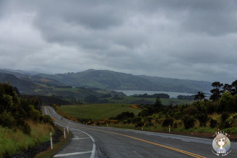 Fahrt Richtung Oamaru, Neuseeland