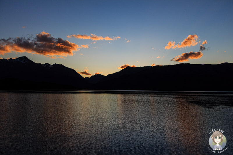 Sonnenuntergang am Lake Wakatipu, Otago (2)