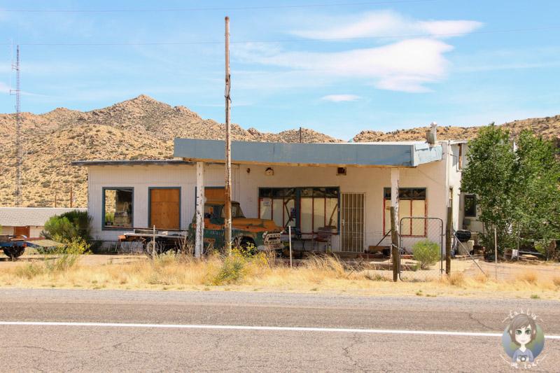 verlassene Tankstelle an der Route 66